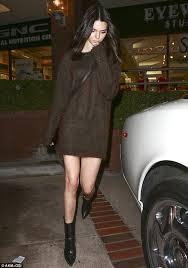 jenner sweater kendall jenner displays lean legs in a sweater mini dress