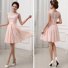 pink dress beautiful junior blush pink lace top knee length bridesmaid