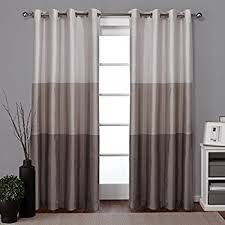 Gray Window Curtains Amazon Com Curtainworks Kendall Color Block Grommet Curtain Panel