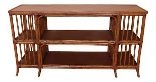 Media Console Tables ethan allen rattan media console sofa table chairish