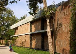 impressive indian home features rotating and sliding marble walls