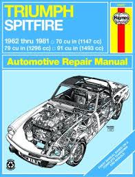 triumph spitfire 62 81 haynes repair manual haynes manuals