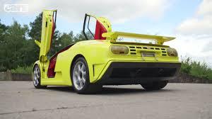 bugatti eb110 crash yellow bugatti eb110 supersport rear side angle sssupersports