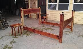 queen size bed frame by cedar furniture lodge lumberjocks com