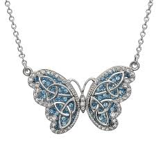 butterfly pendant necklace silver images Pendants necklaces sterling silver aquamarine celtic butterfly jpg