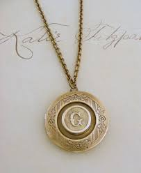 Personalized Photo Locket Necklace Locket Necklace Initial G Vintage Brass Letter G Handmade