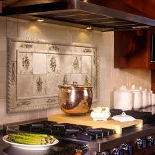 Ceramic Tile Murals For Kitchen Backsplash Kitchen Captivating Tuscan Backsplash Tile Murals Tuscany Design