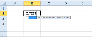 Excel Spreadsheet Tests Practice How To Use The Z Test Function In Excel