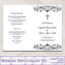 catholic wedding program cover gold wedding program template ironwork by shishkotemplates