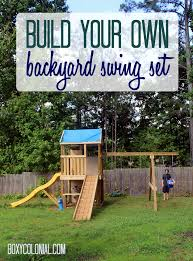 diy swing set wrapping things up swing sets build your own