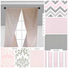 Pink Ruffle Curtains Panels by Blush And Grey Curtains In The Living