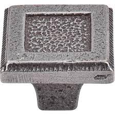 black cast iron kitchen cabinet handles square inset knob 1 5 16 inch cast iron