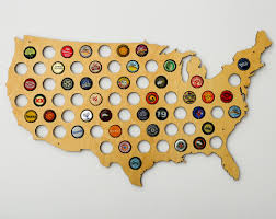 United States Map Wall Art by United States Of America Beer Cap Map Design By Skyline Workshop