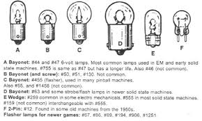 car replacement light bulb size guide pinballmedic pinball and coin op video arcade game tech tips