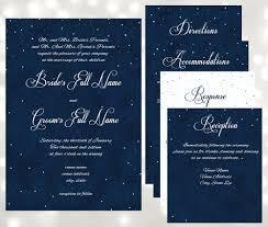 starry night wedding invitations under the stars wedding