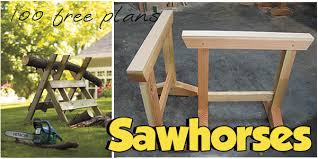 Knock Down Shooting Bench Plans 70 Sawhorse Plans To Build At Planspin Com