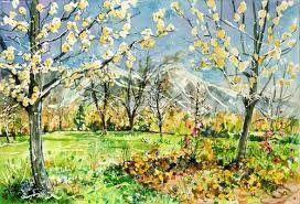 spring painting ideas 10 easy watercolor painting ideas for spring jerrysartarama com