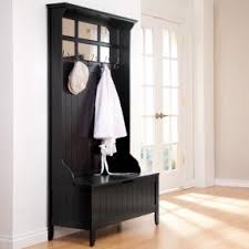 Black Hall Tree Bench Hall Tree Entry Bench Coat Rack Foter