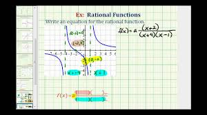 ex 3 find the equation of rational function from a graph youtube