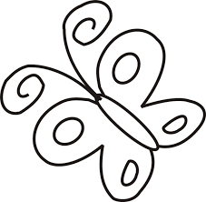 simple butterfly coloring pages getcoloringpages