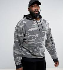 asos plus oversized hoodie in washed camo green products