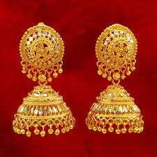 gold earrings jhumka design gold jewellery jhumka design 44 traditional south indian jhumka
