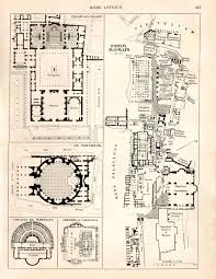 Forum Map Ancient Rome Map And Floor Plans Roman Forum By Carambasvintage