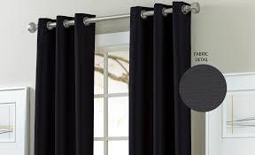 Blackout Curtains Black Textured Black Out Curtains