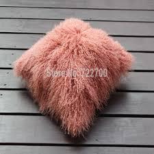 Tibetan Home Decor Aliexpress Com Buy 2016 Real Tibetan Lamb Pillow Cover Mongolian