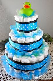 baby shower cake from diapers baby boy diaper cake centerpiece 2