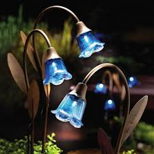 lawn stakes for lights blue bell solar lawn stakes beautiful want garden landscape