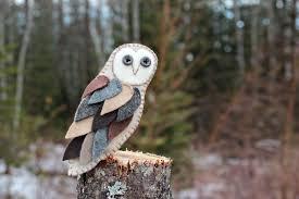 owl ornaments feathery felt barn owl ornament downeast thunder farm