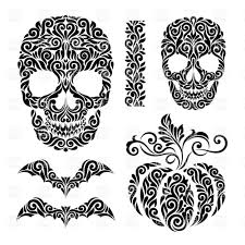 halloween black and white background happy halloween poster scary rabbit skull on black background