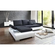canapé d angle blanc et noir canape angle noir blanc