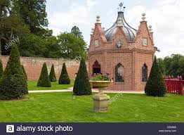 brick folly or garden shelter in the grounds of the walled garden