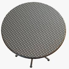 dwr coffee table shape round material rattan wicker color gray