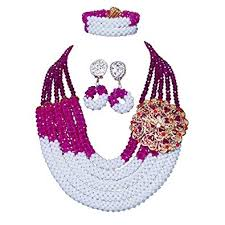 african wedding bead necklace images Amynova 5 rows crystal beads african beaded necklace jpg