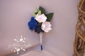 blue boutonniere buy boutonniere for groom with blue and freesia on livemaster