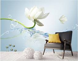 European Style Top Classic 3d European Style Tv Background Wall Water Flower