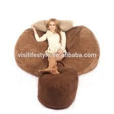 giant soft memory foam beanbag lounge bed comfy sack buy sac