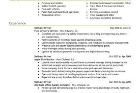 Delivery Driver Resume Example by Resume Samples Parts Delivery Driver Resume Courier Driver