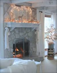 Whitewashing A Fireplace by Erin U0027s Art And Gardens Chalk Painted 1970 U0027s Stone Fireplace