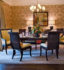 cane back chair dining room traditional with area rug black