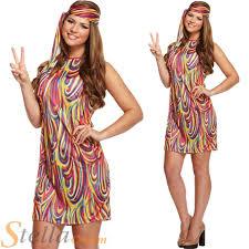 groovy womens 60s 70s hippy fancy dress costume ebay