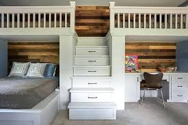 Bunk Bed With Storage And Desk Loft Bed With Stairs And Storage Image Of Bunk Bed With Storage