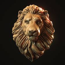 lion print lion head pendant 3d print model animal cgtrader