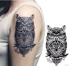 tattoo girl owl amazing and simple owl tattoo on girl shoulder with stencil