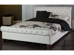 Faux Bed Frame White Leather Bed Frame Munich Brown Leather King Size Ottoman