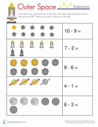 subtraction worksheets with pictures two digit minus one