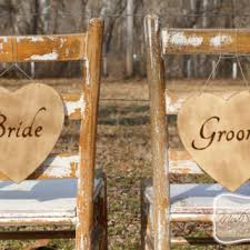 Bride And Groom Chair Signs Shop Bride And Groom Signs On Wanelo